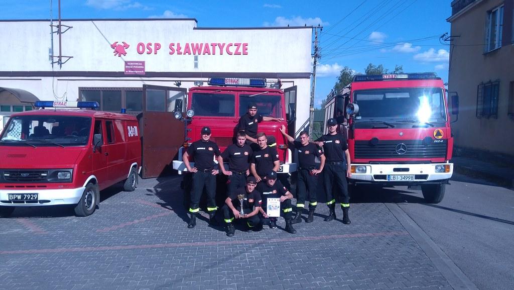 II miejsce OSP Sławatycze na powiatowych zawodach sportowo-pożarniczych wMiędzyrzecu Podlaskim